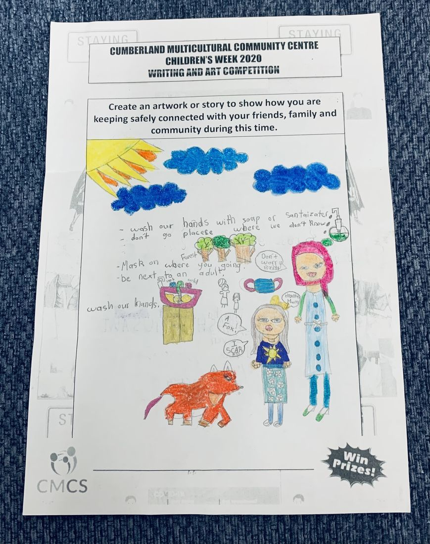 FIRST PRIZE CHILDREN'S WEEK ART COMPETITION